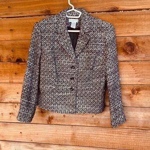 🎄Worthington Button up black and white blazer